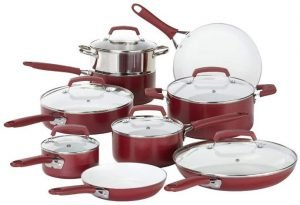 WearEver 2100087606 15 Piece Ceramic Cookware